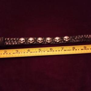 Black leather Harley Davidson bracelet